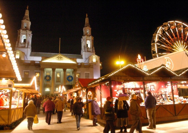 The Christmas Market in Leeds